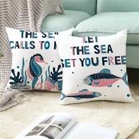 custom the beach in summer pillowcases decorative sofa room bed pillow cover home car cute cushion case 4545cmone side tpr031