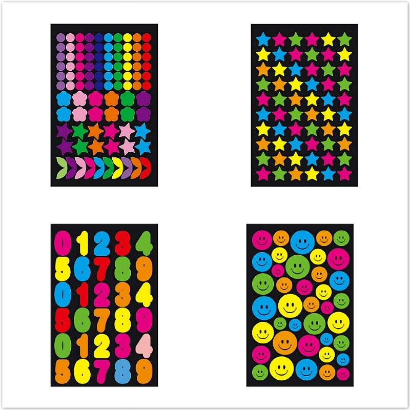 1 Uds patrón pegatinas lindo pegatinas calcomanías etiqueta portátil de álbumes de ordenador portátil clásico juguetes de los niños