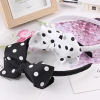 fashion children hairbands dots speckle bow flower headband hair band big bowknot headbands gift for girls hair accessories