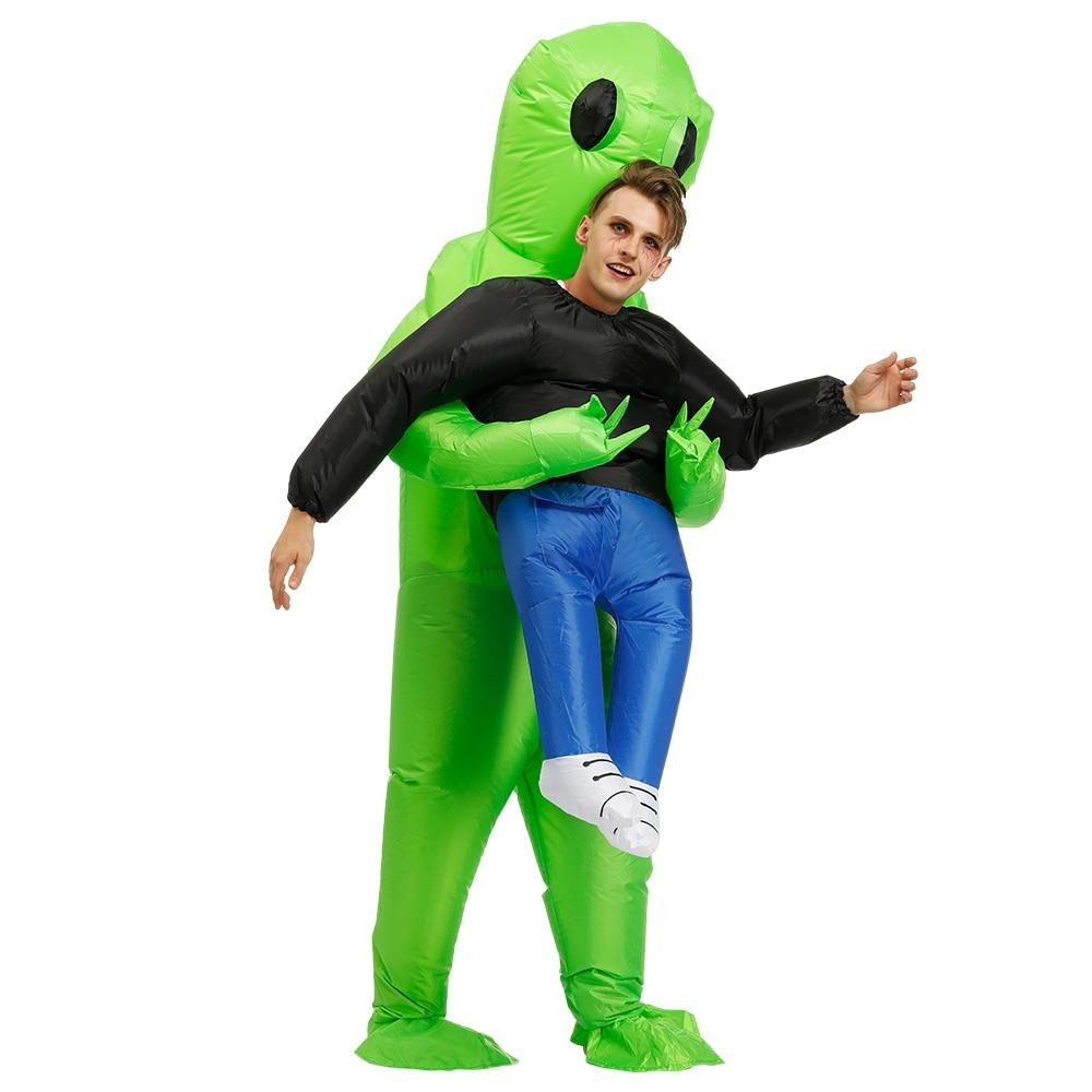 Надувной костюм для косплея инопланетянина для детей, нарядный костюм для вечерние, карнавальный костюм на Хэллоуин для мальчиков и девоче...