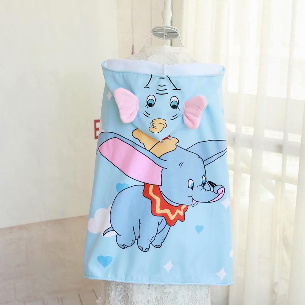 Disney 75*100cm cartoon Minnie Mickey Dumbo mantel bad handtuch bad handtuch prinzessin bad handtuch junge mädchen baby strand handtuch