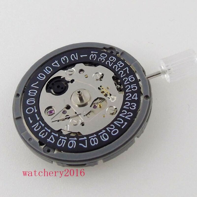 JAPAN NH35 NH35A Automatic Watch Movement Brand New black date window 24 jewels enlarge