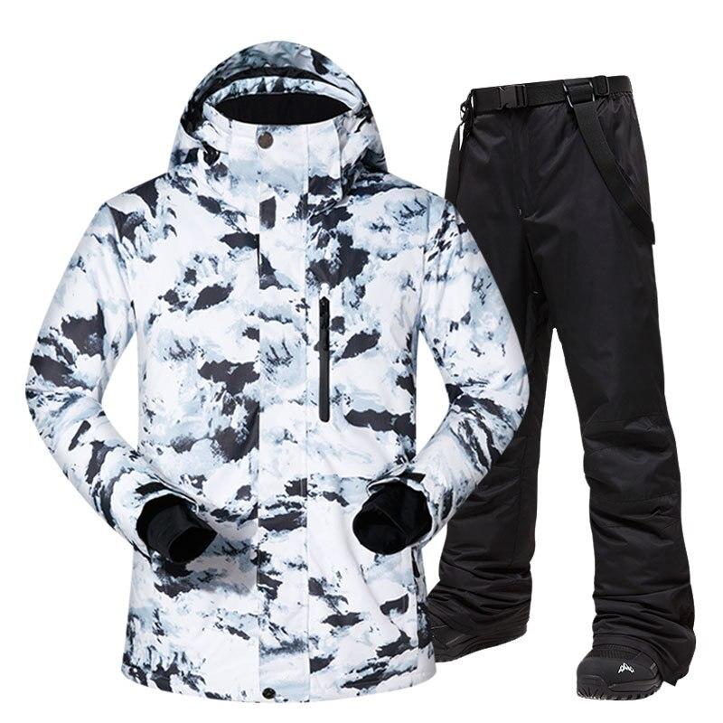 Ski suit men's winter warm, windproof and waterproof sports outdoor sports sled sports hot pants ski team Snowboard men's jacket