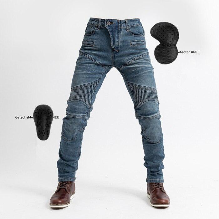 2020 nuevo PK718 pantalones de montar en moto carrera slim stretch locomotive Kominie anti-Pantalones con caída con equipo de protección pantalones vaqueros de montar