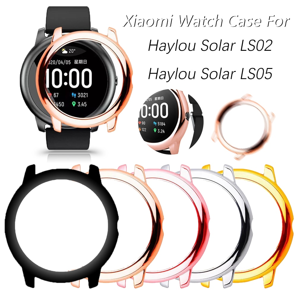 Upscale Protector Case for Xiaomi Haylou Solar LS05 LS02 PC Hard Hollow out Women Girl Smart Watch C