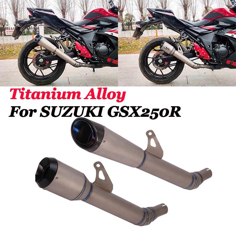 Slip para Suzuki GSX250R DL250 GSX250 de la motocicleta de aleación de titanio tubo de Escape, tubo central carbono Escape silenciador DB asesino