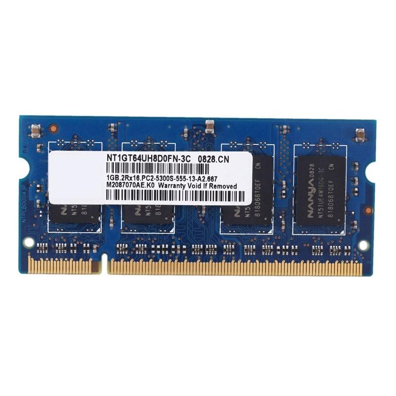 Memoria RAM para portátil DDR2, 1GB, PC2-5300S, 667MHz, 1,8 V, 2 rx16,...