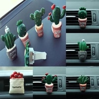 55 dropshipping1pc cute cactus car conditioning vent perfume diffuser outlet air freshener