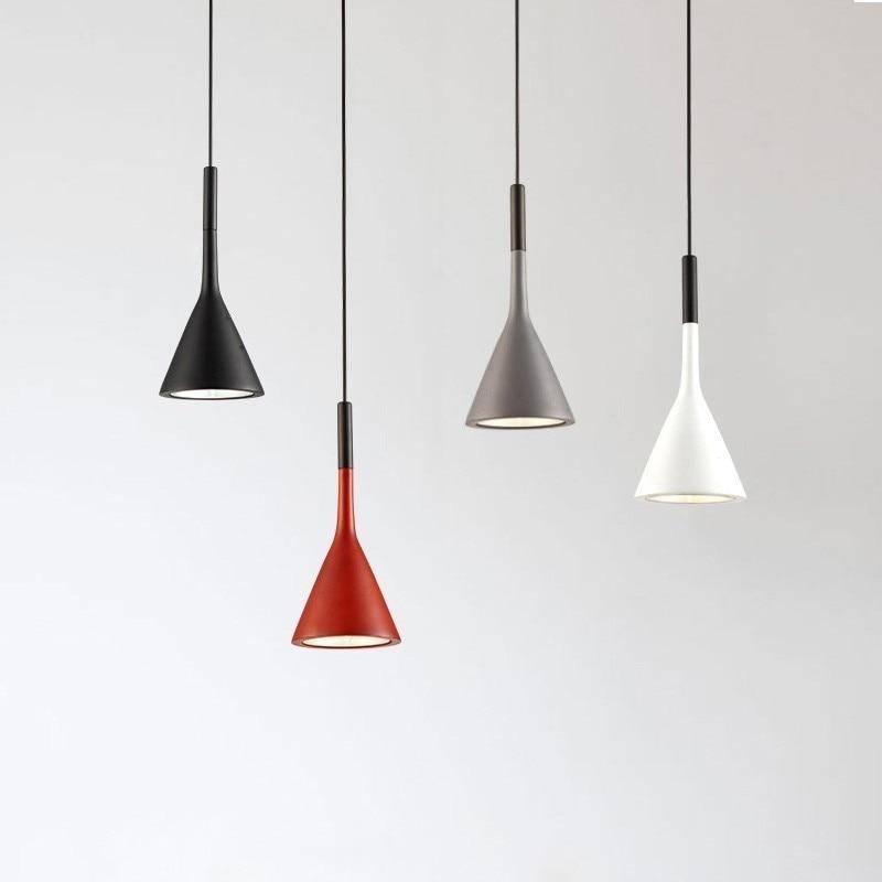 Nordic Minimalism Droplight E27 Aluminum Pendant Lights, Home Restaurant Decor Lighting and Bar Showcase Spot Lights