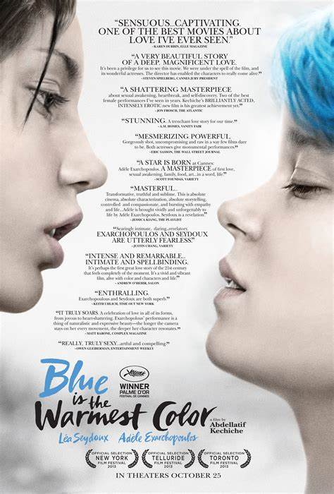 More style Blue is the Warmest Color Movie Art Film Print Silk Poster Home Wall Decor 24x36inch