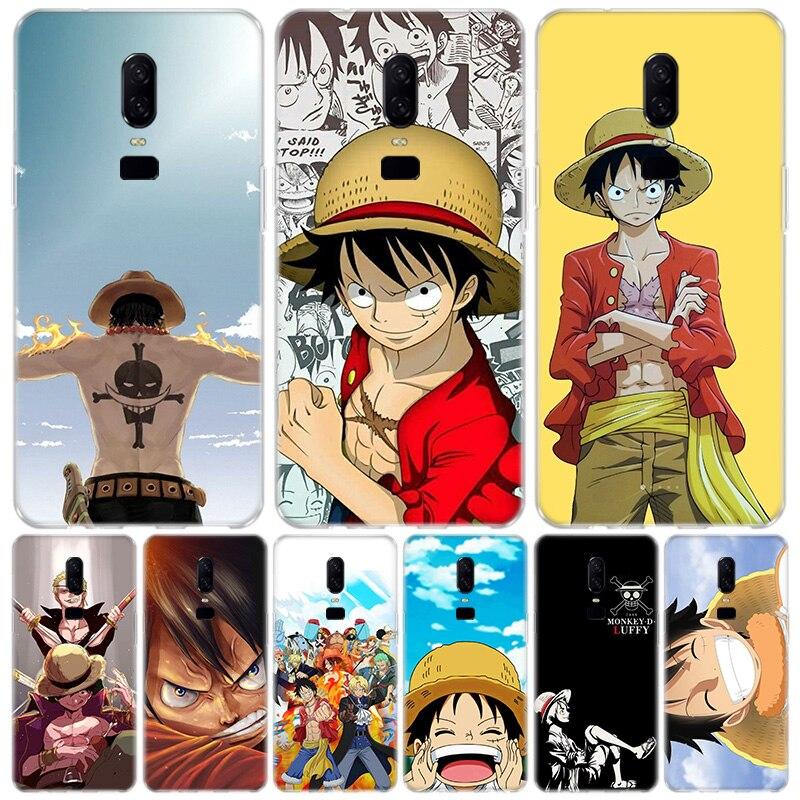 Una sola pieza funda anime teléfono caso OnePlus 1 + 1 + 7 Pro 7t 6T 5T 5 3T regalo de arte estampado personalizado Coque bolsas