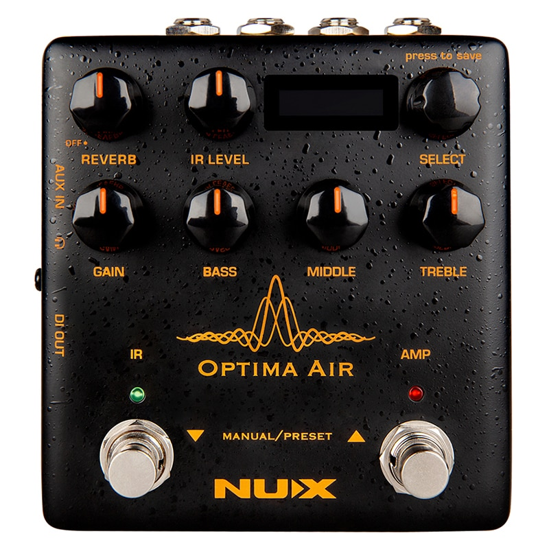 NUX Optima Air Pedal Acoustic Guitar Processor Simulator IR Loader Reverb Function 3-Band Equalizer Guitar Effects Accessories enlarge