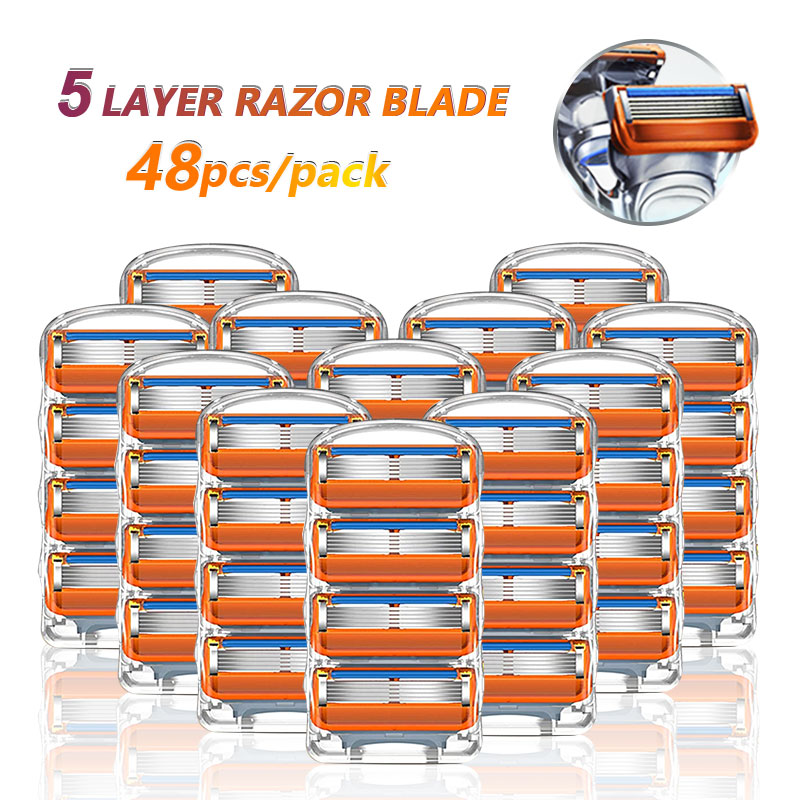Razor Blades Shaving Cassettes For Gillette Fusion 5 Face Shaver Case For Men Replacemet Razor Heads