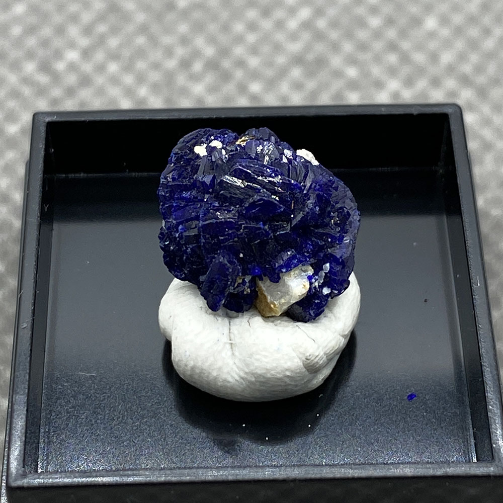 Natural azurita mineral cristal espécime da provincia de anhui china Caja de...