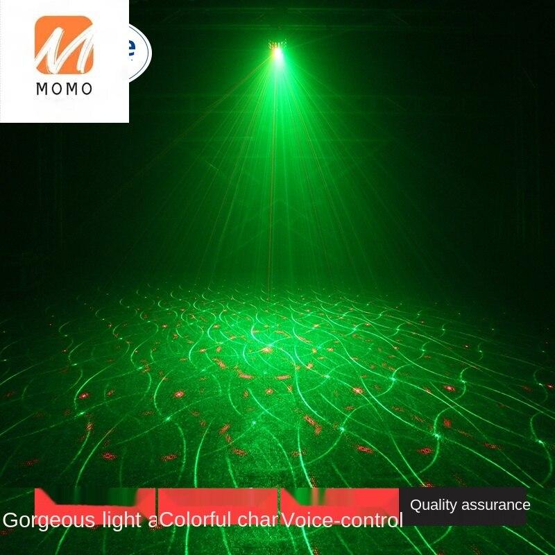 Stage Lighting Lamp Laser Light Rotating Light Household Laser Colorful Light KTV Voice Control Beam Light Room Indoor enlarge