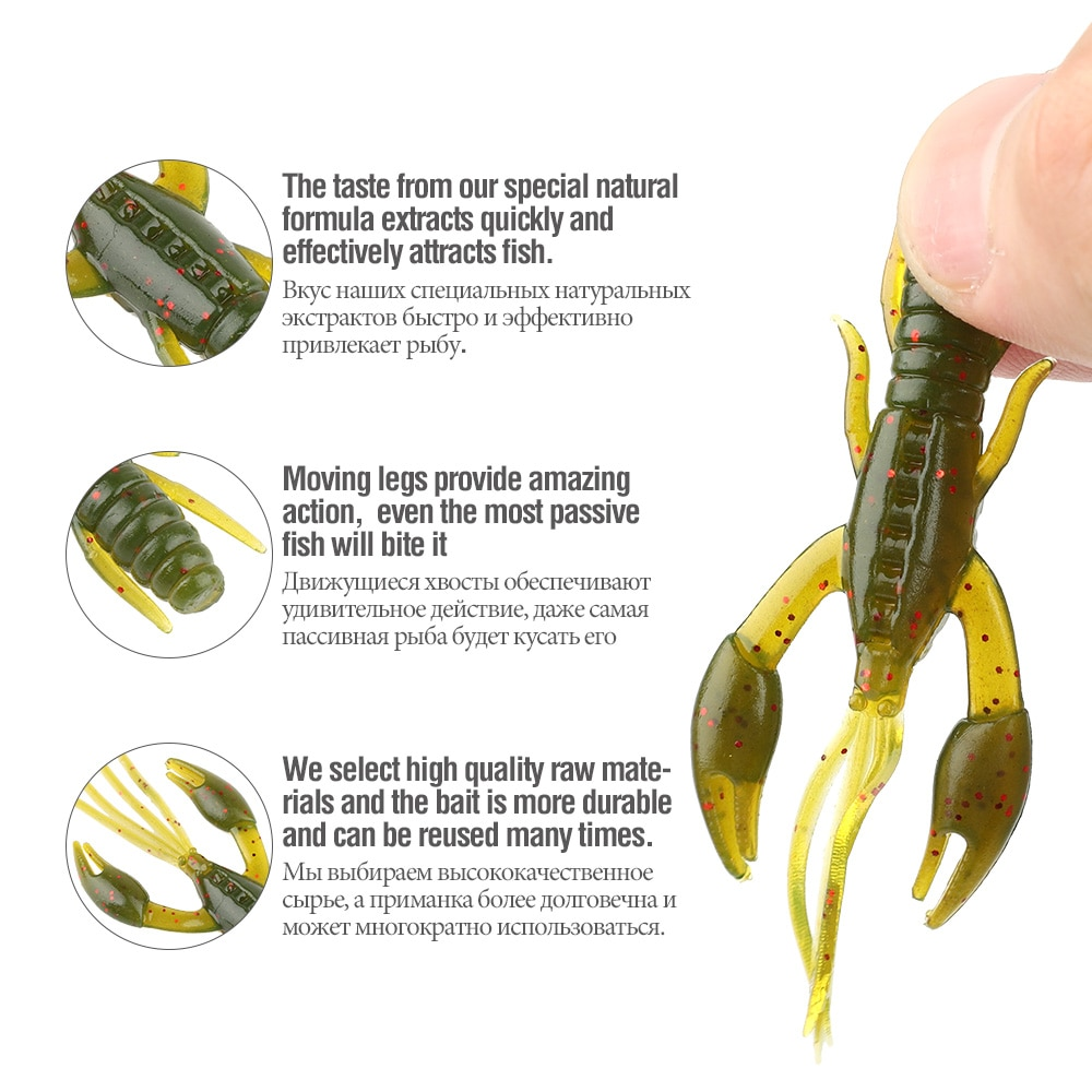 DONQL 80pcs Worm Silicone Soft Fishing Bait Jigging Larva Lure + 20pcs Mix Hook With Box Swimbait Rubber Shiner Bait Set Tackle