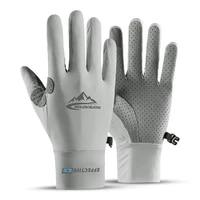 elastic summer gloves men touch screen anti slip anti uv riding fishing breathable gloves sun proof ice silk cool thin gloves