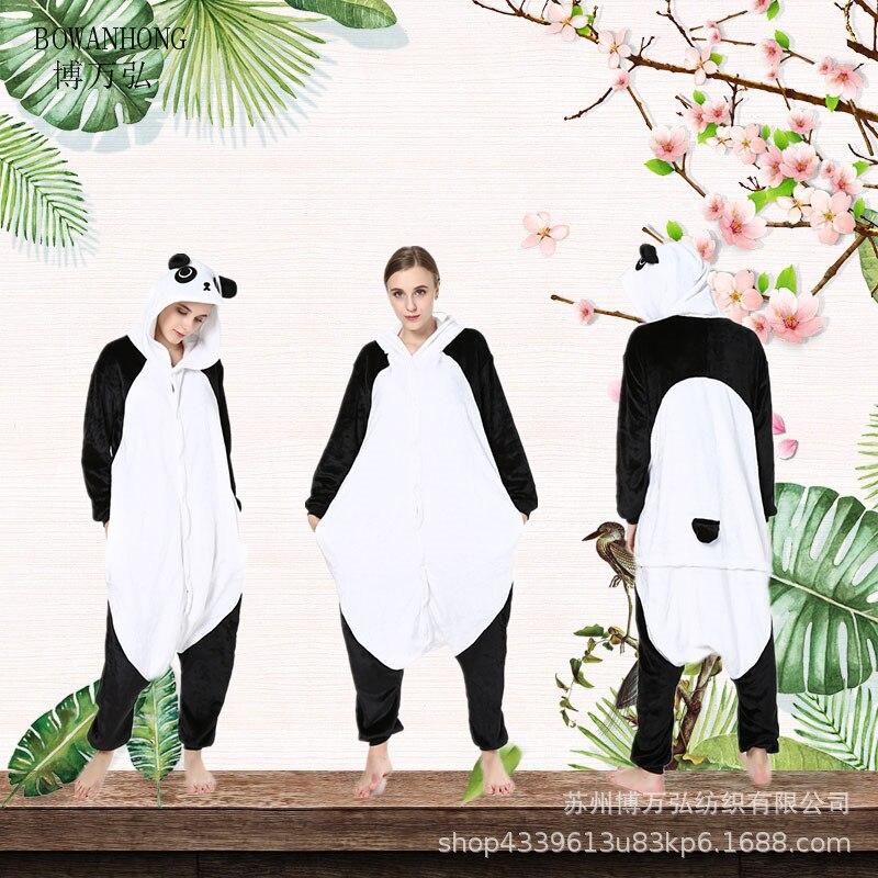 Pijama de una pieza de dibujos animados de Kung Fu Panda Animal de franela fabricantes de ropa para hombre y mujer al por mayor