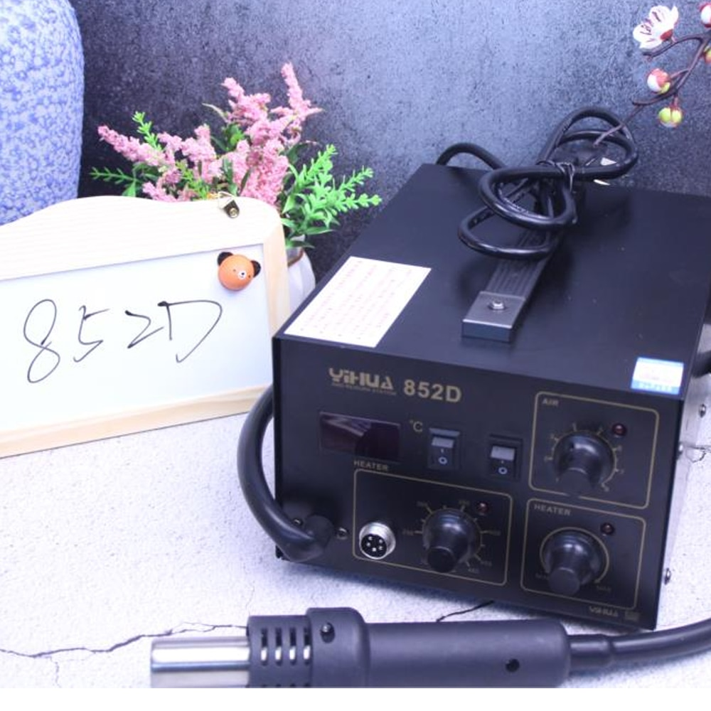 YIHUA 852D 2 In 1 Soldering Station YIHUA 852D (Diaphragm Pump) Rework Soldering Station with hot air gun and solder iron enlarge