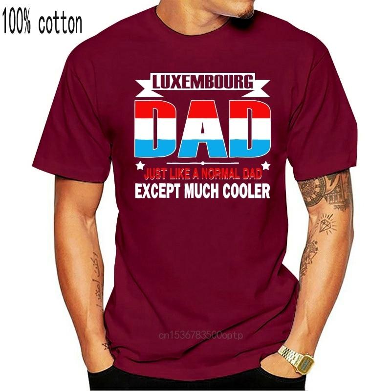 Neue Lustige Casual Herren Streetwear Kurzarm T Shirts Luxemburg Dad Ist Viel Kühler Vatertag T-Shirt Flagge T Shirts