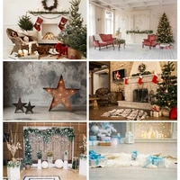 christmas backdrop wood board light winter snow gift star bell vinyl photography background for photo studio 20826sd 02