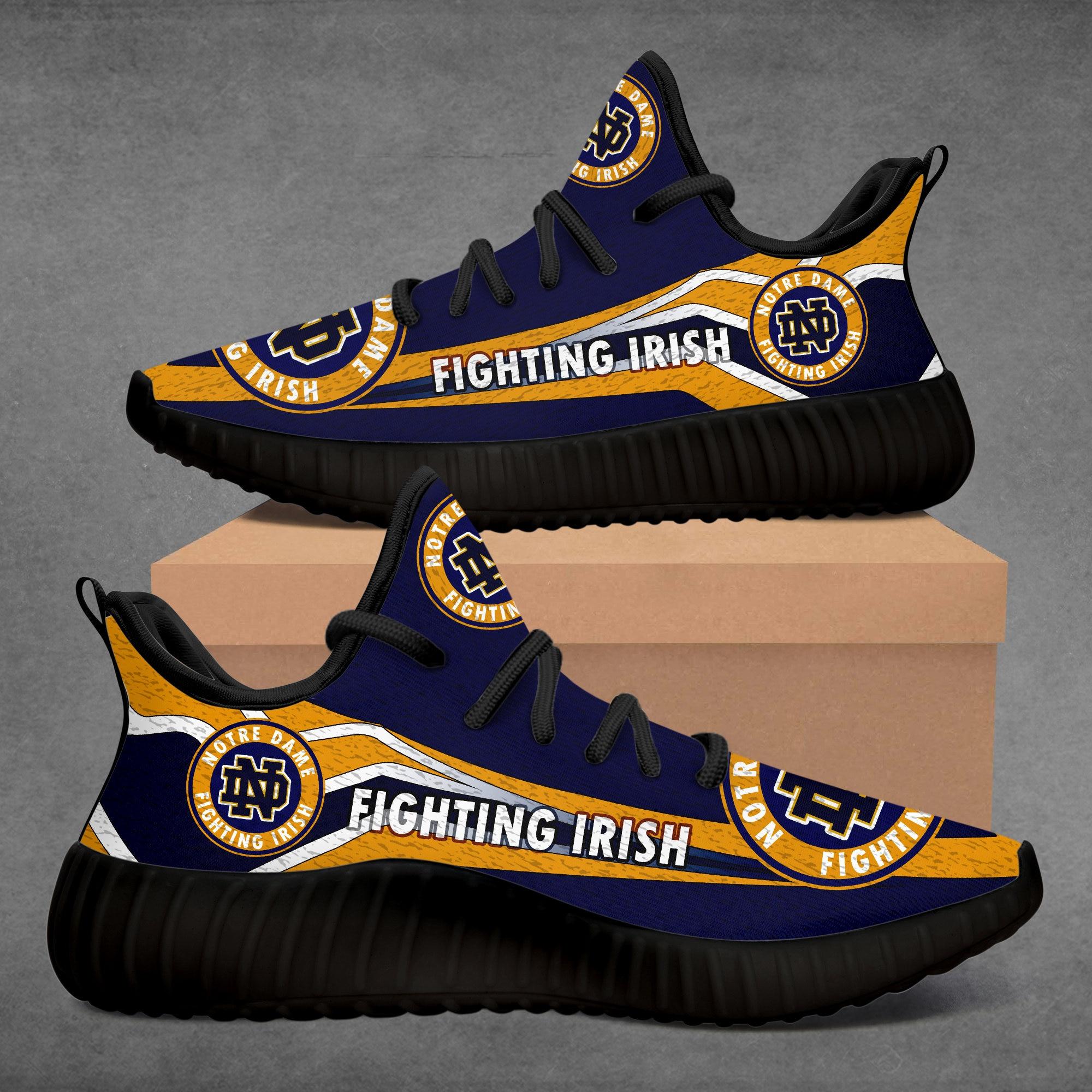 Колледж пользовательские NDFI кроссовки NOTRE-DAME-FIGHTING-IRISH Спортивная повседневная обувь