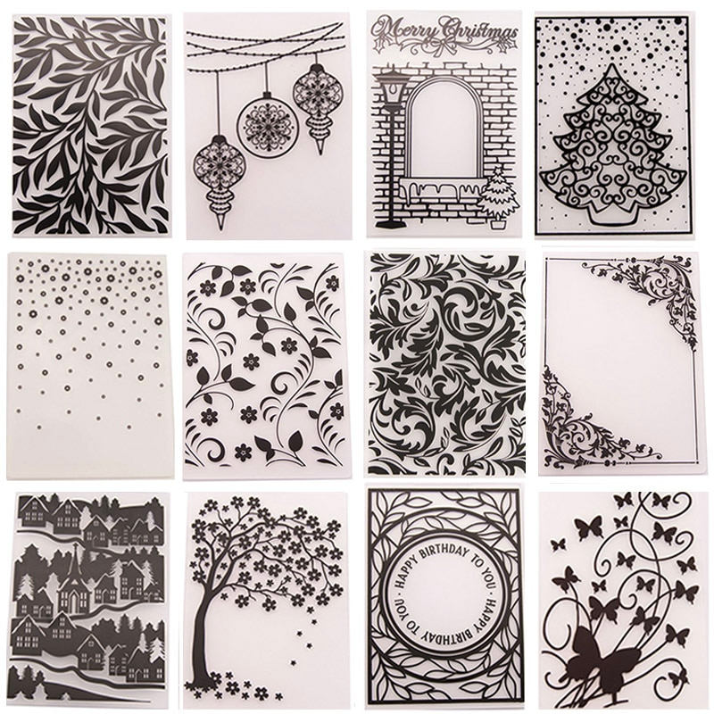New Arrivals Plastic Embossing Folder Template for DIY Scrapbooking Craft Photo Album Card Holiday H