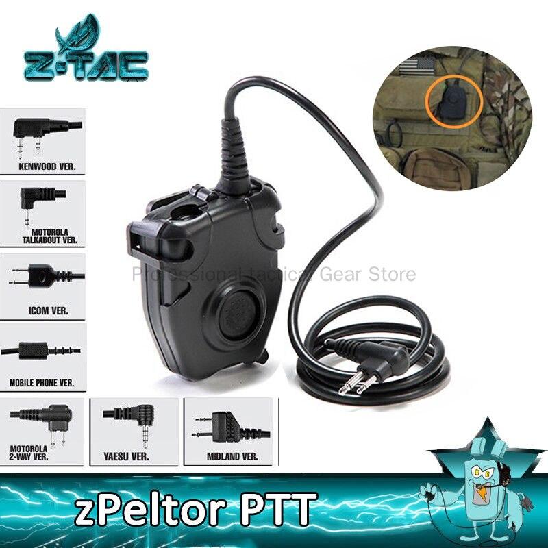Z-TAC التكتيكية سماعة PTT Z112 سماعة دفع للحديث محول راديو الادسنس العسكرية ل Baofeng UV5R /ICOM/ميدلاند/موتورولا