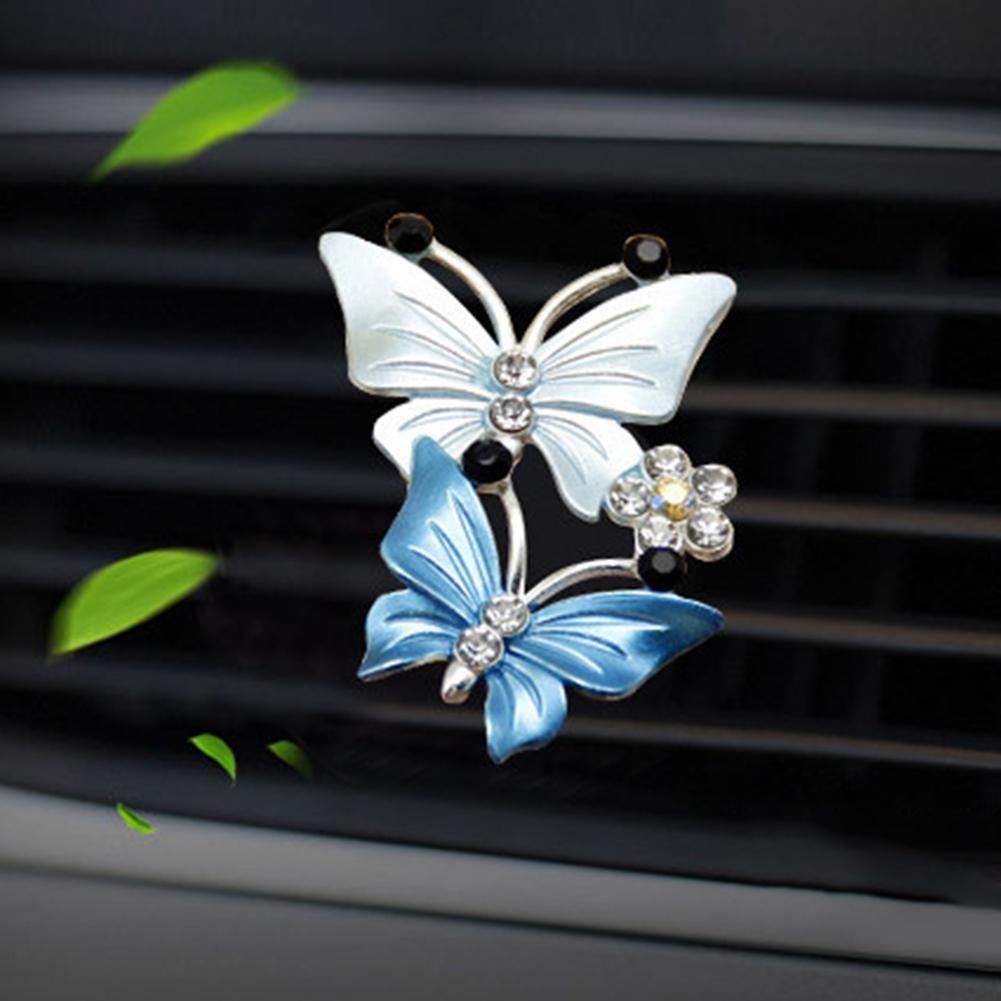 Автомобильный симпатичный двойной освежитель воздуха в виде бабочки