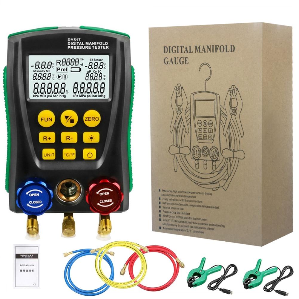 رقمي متعدد القياسات قياس الضغط التبريد فراغ ضغط المنوع تستر تسرب رصد كاشف المبردات متر