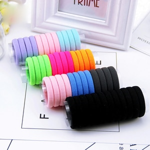 Elastic Hair Band Hairdressing Tools Black Rubber Band Hair Ties / Rings / Ropes Gum Springs Ponytail Holders Hair Accessories