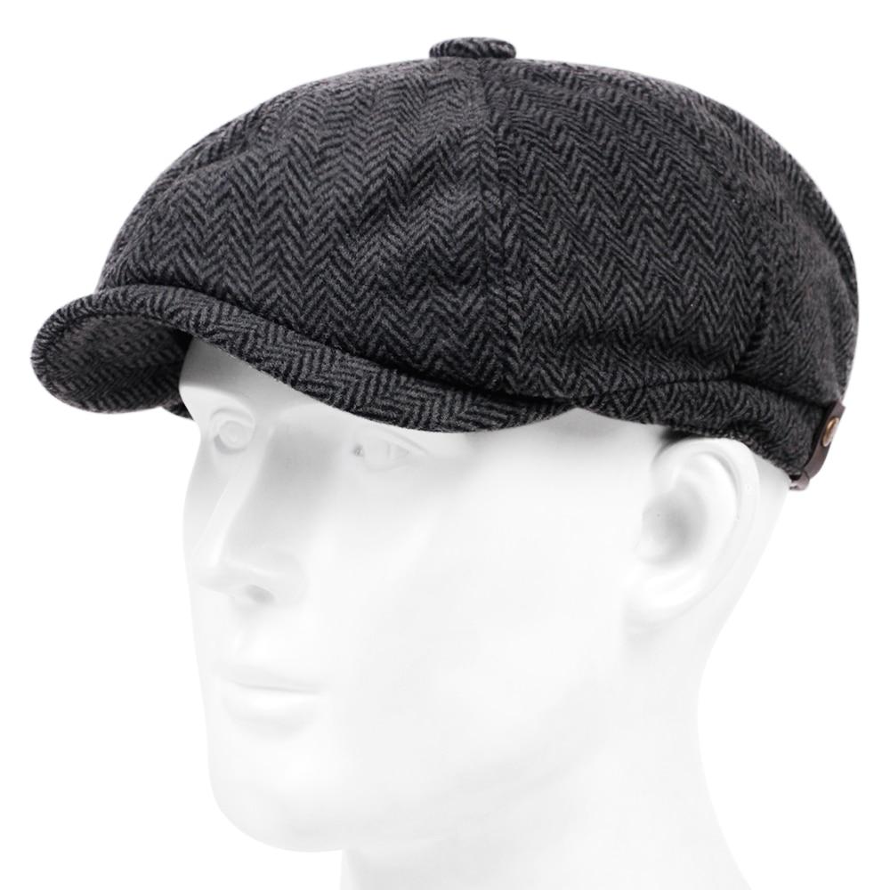 Модные шерстяные кепки газетчика, мужские плоские кепки в елочку, женские кофейные британские Гэтсби кепки, осенне-зимние теплые флейты