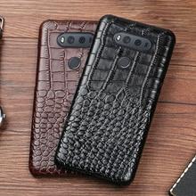 Чехол для телефона для LG G6 G7 V10 V20 V30 V40 V50 ThinQ G3 G4 G5 G6 G7 G8s ThinQ K40 K50 класса люкс Crcodile текстуру натуральной задняя крышка