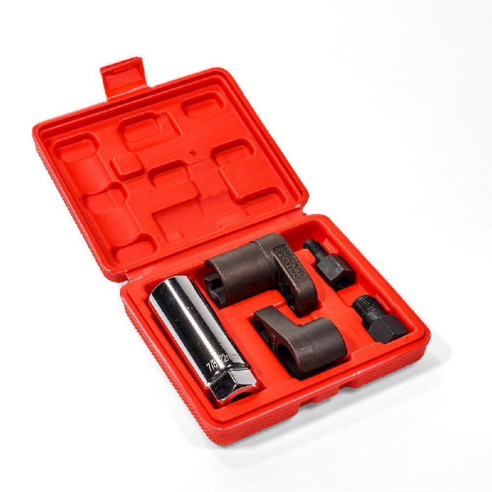 5 pçs/set sensor de oxigênio do carro soquete chaser rosca instalar chave offset vácuo m12 m18 kit ferramenta reparo do carro acessórios