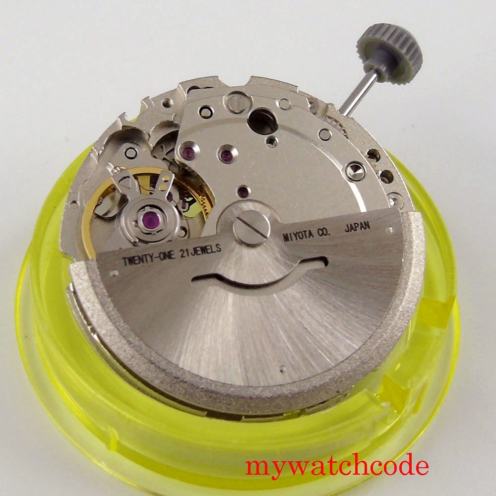 21 Jewels Miyota 8215 821A Hack Second Stop Date Window Automatic Mechanical Movement Watch Accessor