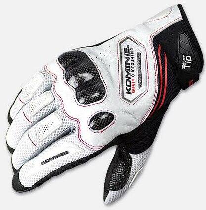 Белые перчатки KOMINE GK-167 GK 167 из углеродного волокна, сетчатые перчатки для локомотива, автомобильные велосипедные перчатки