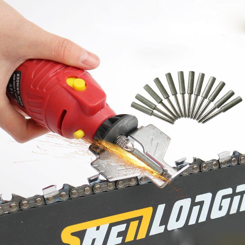 220V 5 Speed 37000rpm Power Grinder Sharpening Handheld Chain Machine Electric Mini Saw Grind Sharpening Machine Power Tool Set