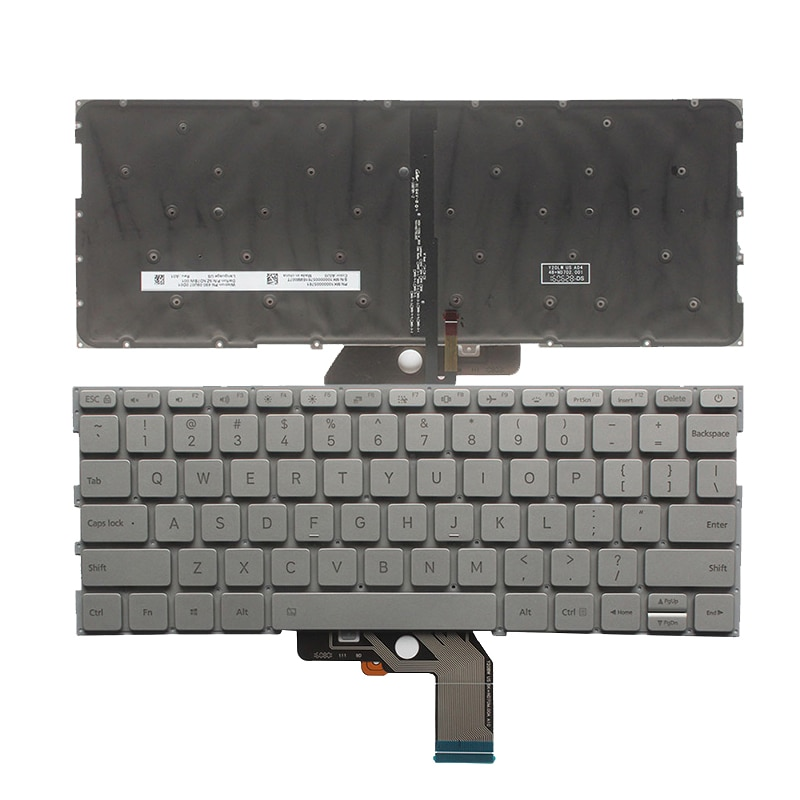 US laptop keyboard for xiaomi MI air 13.3 keyboard with backlight silver