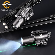 WADSN X400U Tactical Scout light 510 lumens Army X400 Ultra Night  Weapon Light with Green Laser Pis