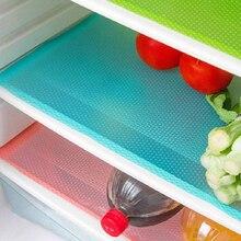Alfombrillas antiincrustantes para refrigerador, tapetes lavables para refrigerador, moho, se pueden cortar, 4 unids/set por juego