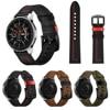 SIKAI 가죽 시계 스트랩 삼성 기어 S3 갤럭시 시계 팔찌 Amazfit GTR GTS 시계 벨트 Huwei 시계 GT 2 2e