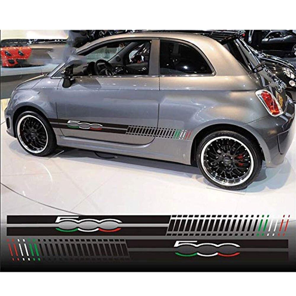 Для Fiat 500, автомобильные боковые полосы, графические наклейки, наклейки s, наклейки, автомобильные пары, гоночные 595, ABARTH, виниловые, Стайлинг автомобиля, декоративные наклейки для кузова автомобиля