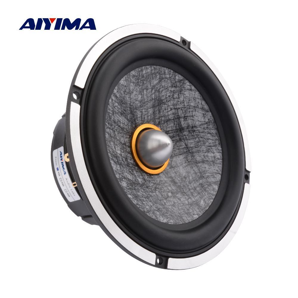 AIYIMA 1 قطعة 6.5 بوصة الصوت مكبر الصوت المتكلم سائق المسرح المنزلي 4 أوم 50W 30 النواة رصاصة رئيس مكبر الصوت الصوت الموسيقى باس المتكلم