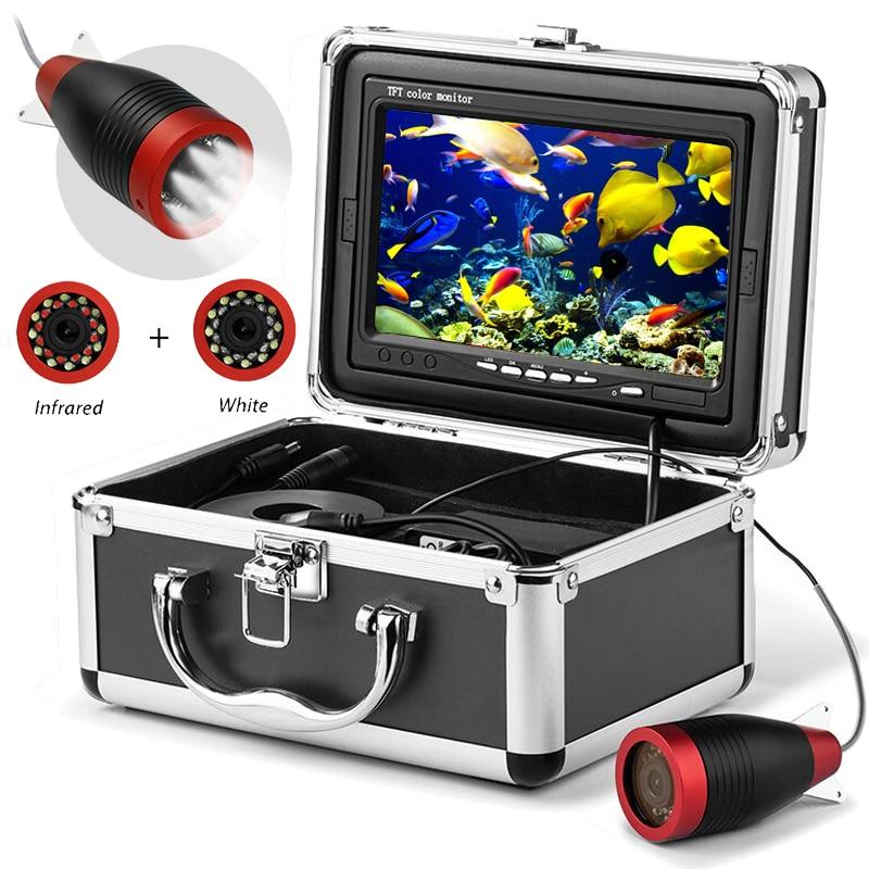 Fish Finder Underwater Fishing Camera 1000TVL Screen12pcs White LEDs+12pcs Infrared Lamp Camera For Fishing