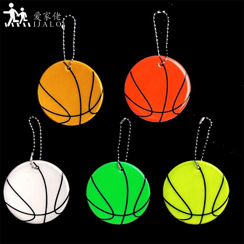 Баскетбольные брелоки, светоотражающие брелоки, подвесные аксессуары для сумок, высокая видимость, безопасность движения