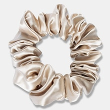 slip style 100% real silk 22 momme 3.5cm wide scrunchie Hairband Fashion High Quality Accessories He