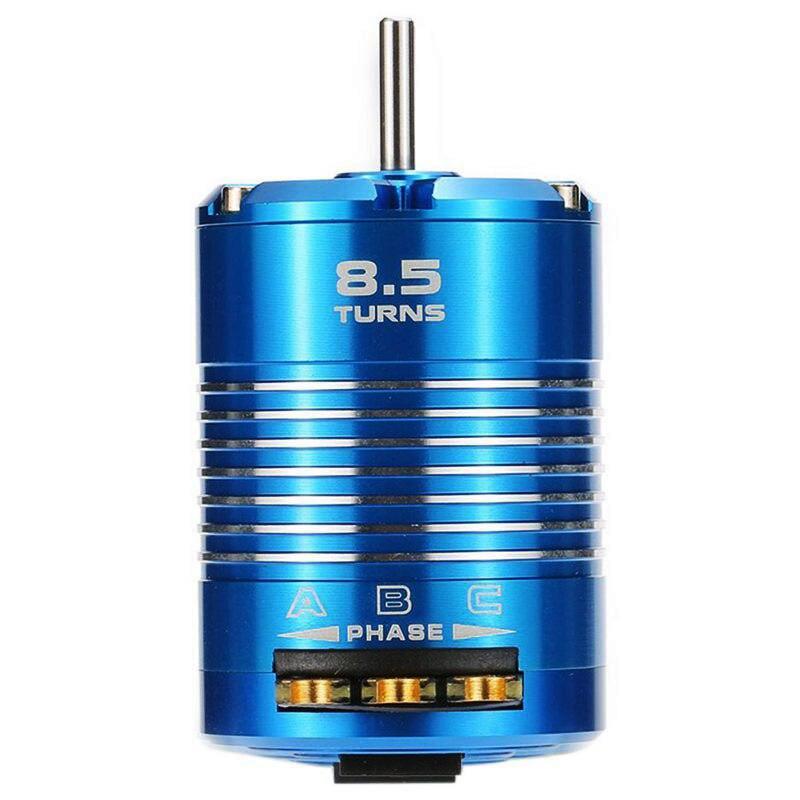Alta eficiencia, 540, Motor sin escobillas Sensored para coche de control remoto 1/10, azul