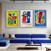 retro poster prints colorful abstract pattern painting pictures modern wall art canvas for living room bedroom home decoration