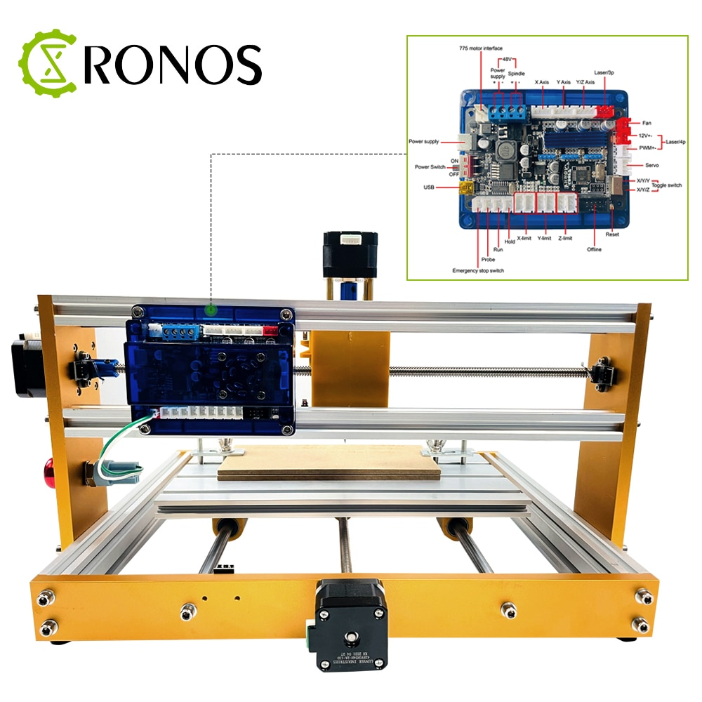 CNC Router Machine 30*18-PROVer with GRBL Offline Control, Limit Switches & Emergency-Stop, XYZ Working Area 300 x 180 x 45mm enlarge