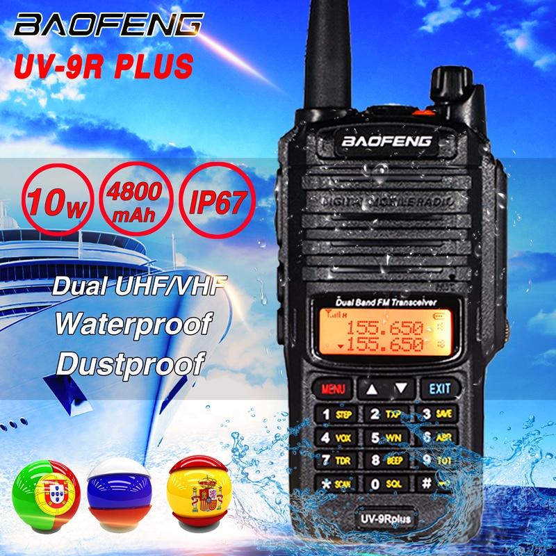 Рация Baofeng UV-9R plus, водонепроницаемая Двухдиапазонная УКВ/УКВ, для охоты, Любительское радио, 2020, 10 Вт, двухсторонняя радиосвязь